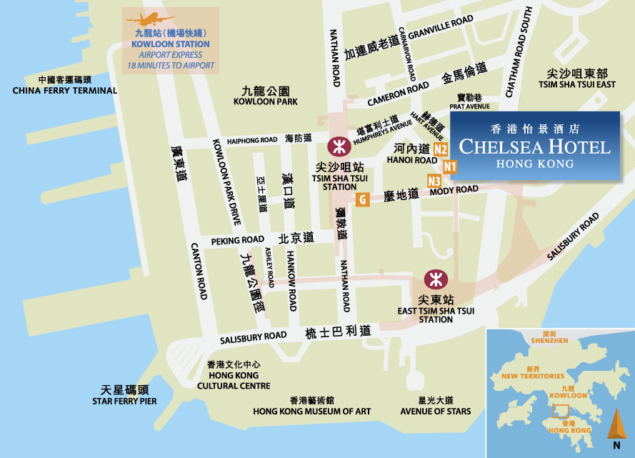 Find Us Map Chelsea Hotel Hong Kong - Us to hong kong map
